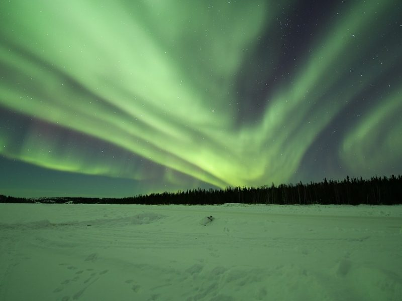 An image of the northern lights.